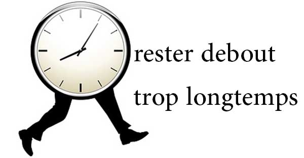 rester debout muscle les jambes